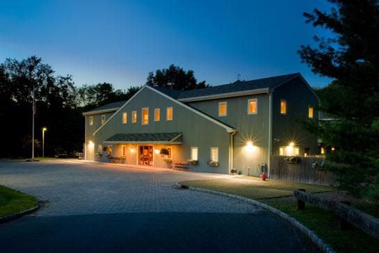 Morris facility at night